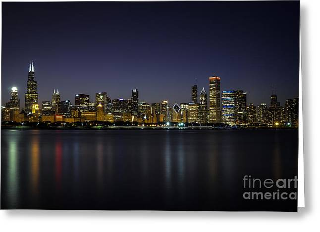 Chicago In Blue Greeting Card