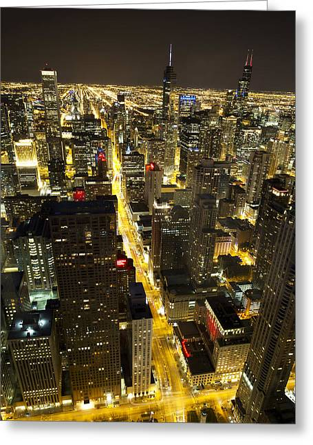 Greeting Card featuring the photograph Chicago Is Always Alive by Shawn Everhart