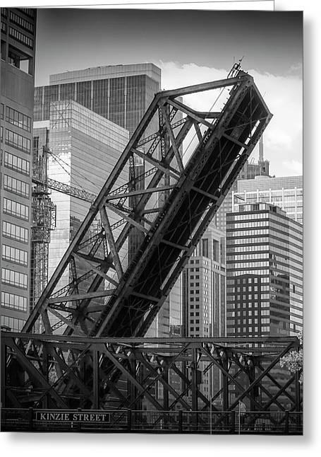 Chicago Kinzie Street Railroad Bridge Greeting Card