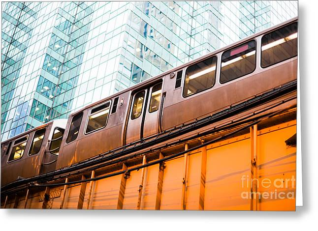Chicago L Elevated Train  Greeting Card