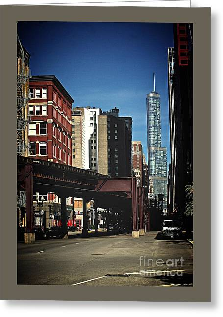Chicago L Between The Walls Greeting Card