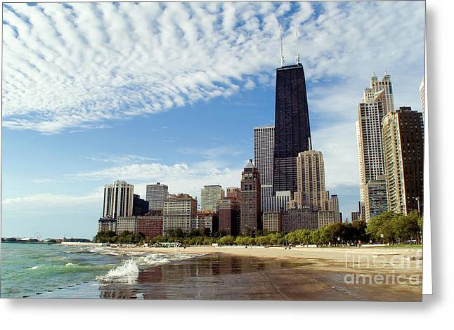 Chicago Lakefront Skyline Greeting Card