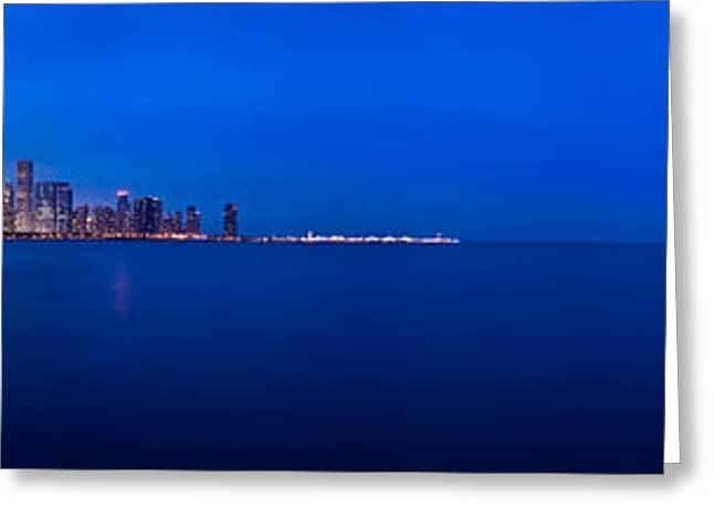 Chicago Lakefront Ultra Wide Hd Greeting Card by Steve Gadomski