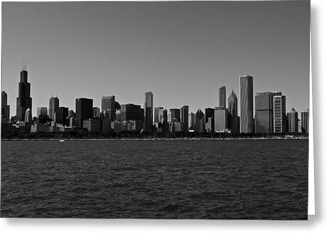 Chicago Lakeshore Skyline Greeting Card by Miranda  Miranda