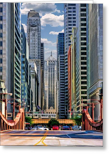 Chicago Lasalle Street Greeting Card