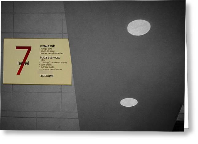 Chicago Macys Level 7 Walnut Room Signage Sc Greeting Card by Thomas Woolworth