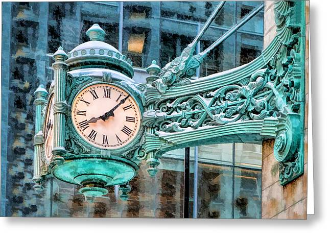 Chicago Marshall Field State Street Clock Greeting Card