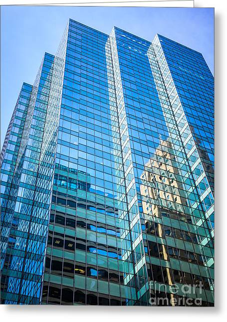 Chicago Modern Glass Office Building Architecture Greeting Card by Paul Velgos