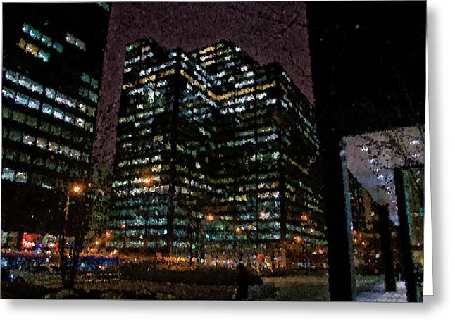 Chicago November Night Pa 02 Greeting Card by Thomas Woolworth