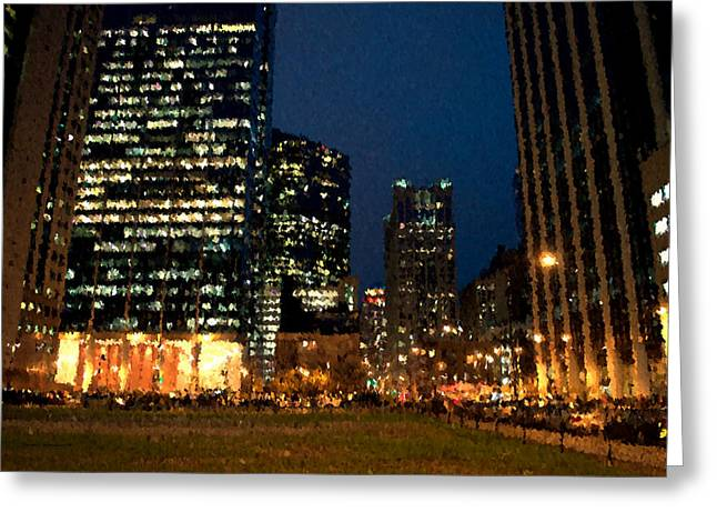 Chicago November Night Pa 03 Greeting Card by Thomas Woolworth