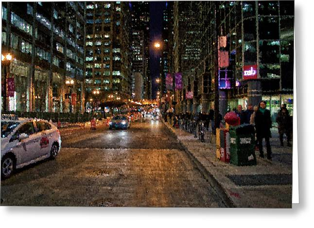 Chicago November Night Pa 04 Greeting Card by Thomas Woolworth