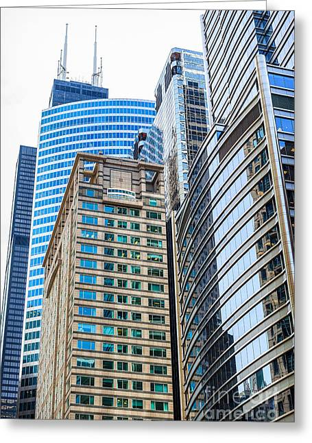 Chicago Office Buildings Architecture Greeting Card by Paul Velgos
