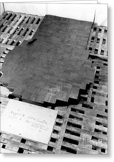 Chicago Pile-1 During Assembly, 1942 Greeting Card by Science Source