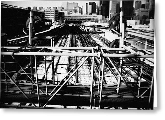 Chicago Railroad Yard Greeting Card