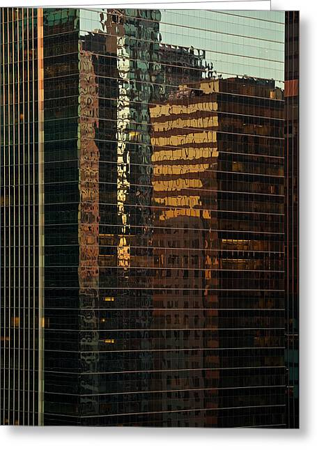 Chicago Reflected Greeting Card by Steve Gadomski
