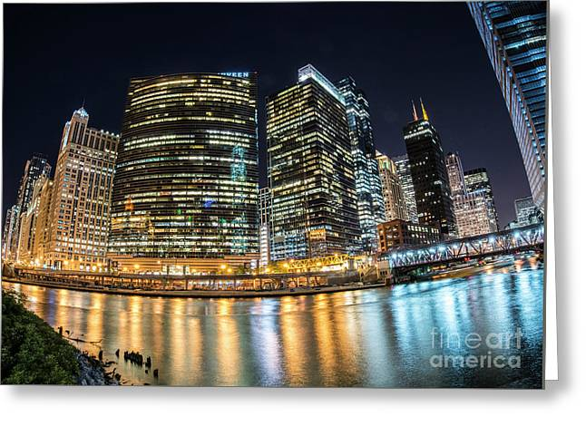 Chicago Reflections Greeting Card by Juli Scalzi