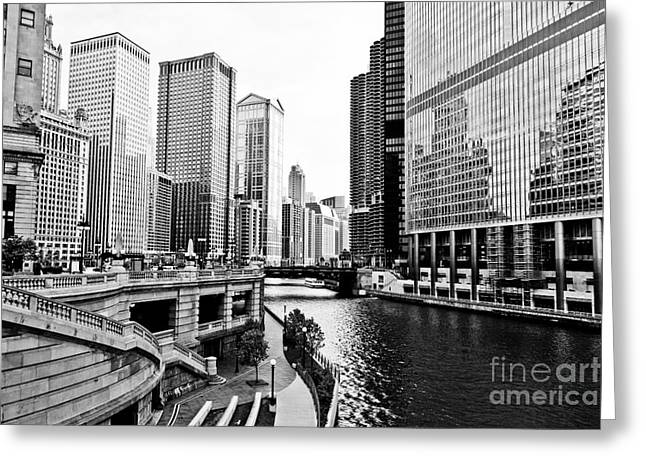 Chicago River Buildings Architecture Greeting Card by Paul Velgos