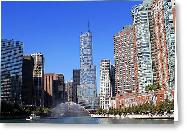Chicago River Greeting Card by Milena Ilieva
