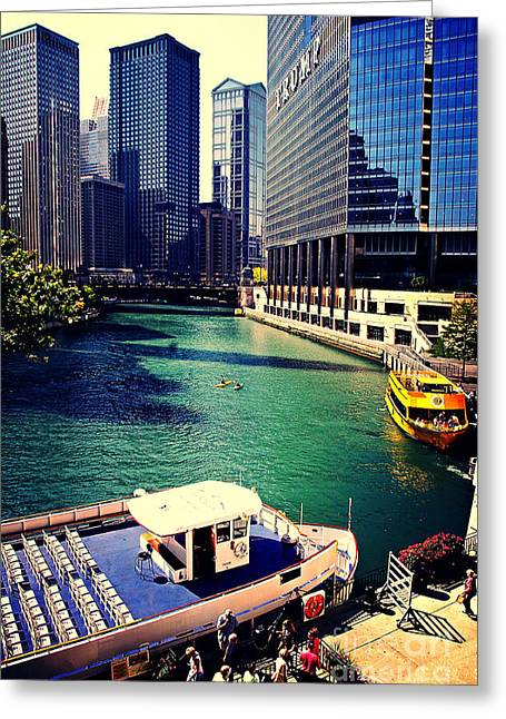 City Of Chicago - River Tour Greeting Card