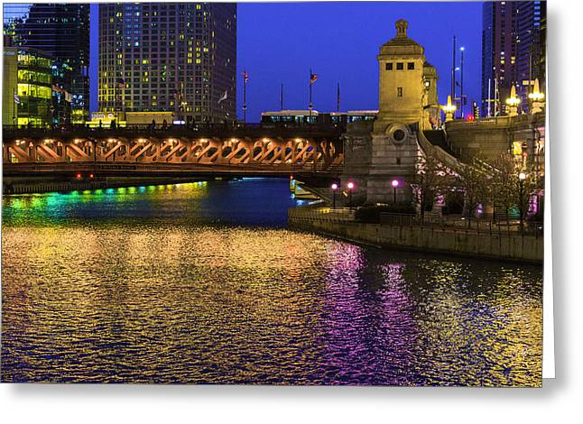 Chicago River Ver2 Greeting Card