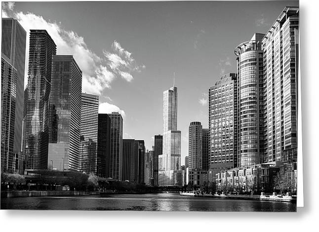 Chicago River West Greeting Card