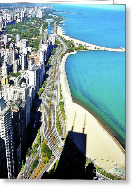 Chicago Shoreline Greeting Card by Snapshot Studio