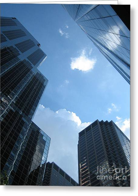 Chicago Sky Greeting Card by Dani Marie