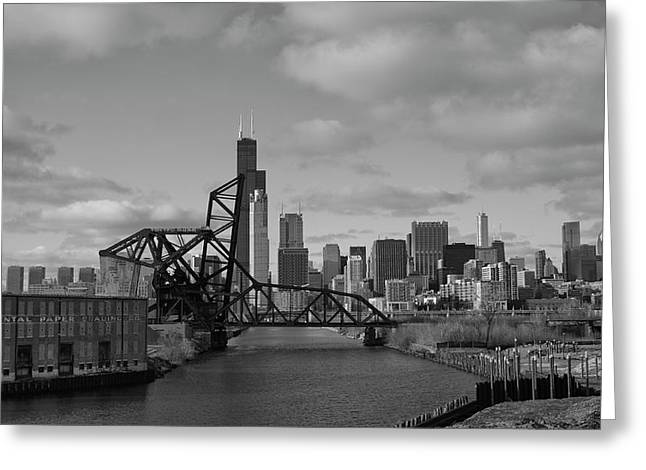 Chicago Skyline 2 Greeting Card by Sheryl Thomas