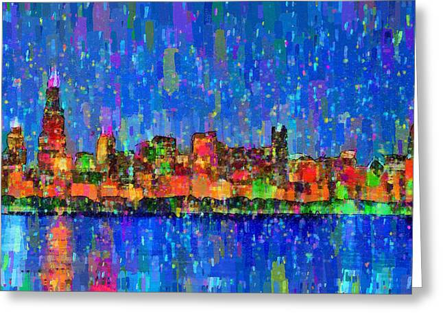 Chicago Skyline 200 - Pa Greeting Card by Leonardo Digenio