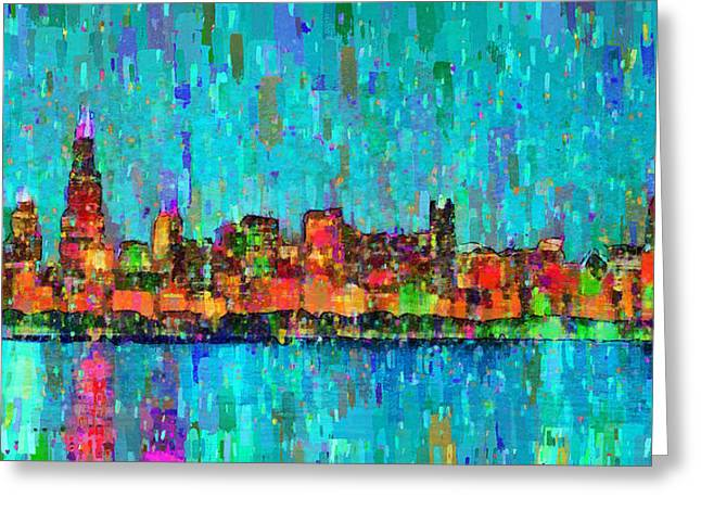 Chicago Skyline 207 - Da Greeting Card