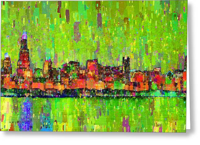 Chicago Skyline 208 - Pa Greeting Card