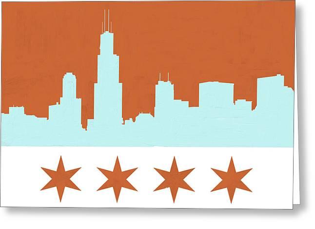 Chicago Skyline 540 3 Greeting Card by Mawra Tahreem