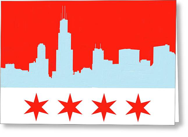 Chicago Skyline 541 1 Greeting Card by Mawra Tahreem