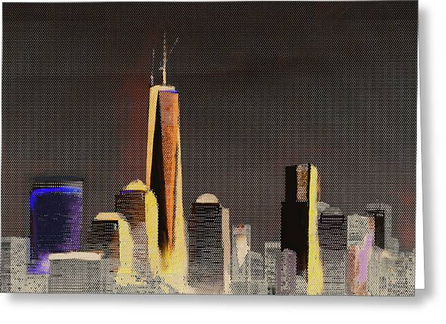 Chicago Skyline 651 3 Greeting Card