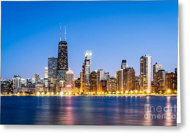 Chicago Skyline At Twilight Greeting Card