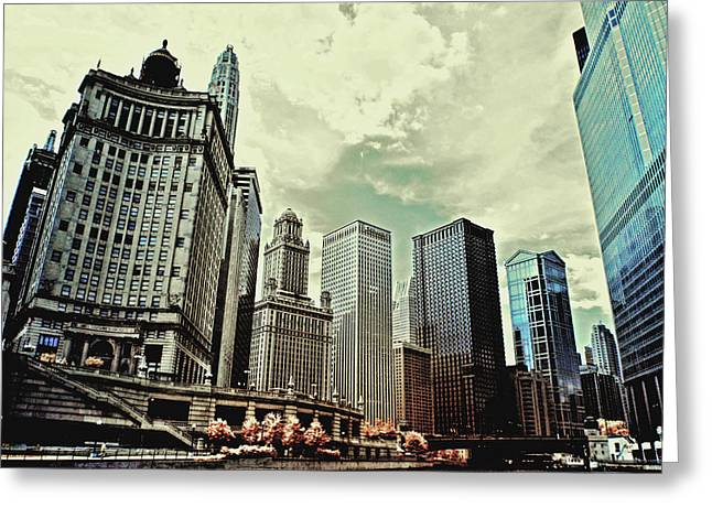 Chicago Skyline Greeting Card by Bob LaForce
