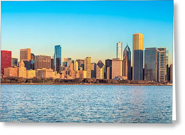 Chicago Skyline On A Clear Day Greeting Card by James Udall