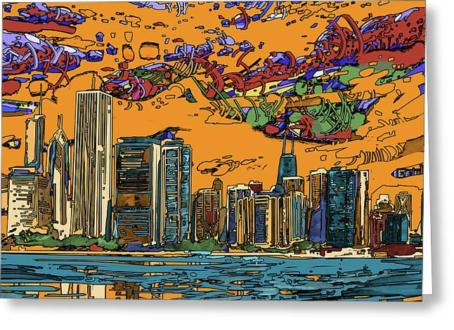 Chicago Skyline Panorama 2 Greeting Card