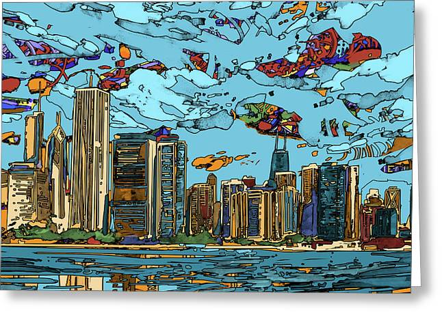 Chicago Skyline Panorama Greeting Card