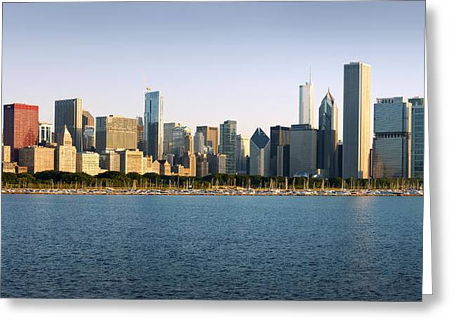 Chicago Skyline Panorama Greeting Card by Donald Schwartz