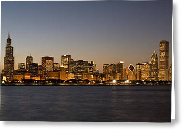 Chicago Skyline Panorama Greeting Card by Steve Gadomski