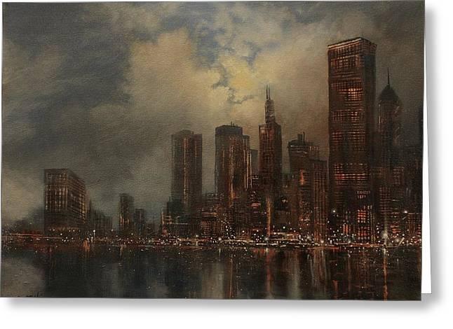 Chicago Skyline Greeting Card by Tom Shropshire