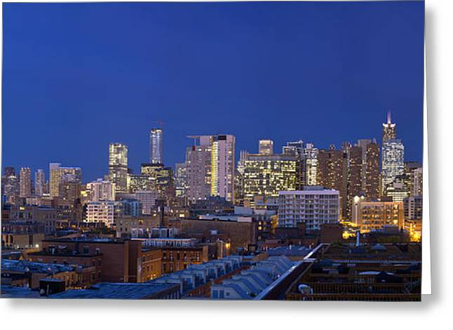 Chicago Skyline West Side Greeting Card