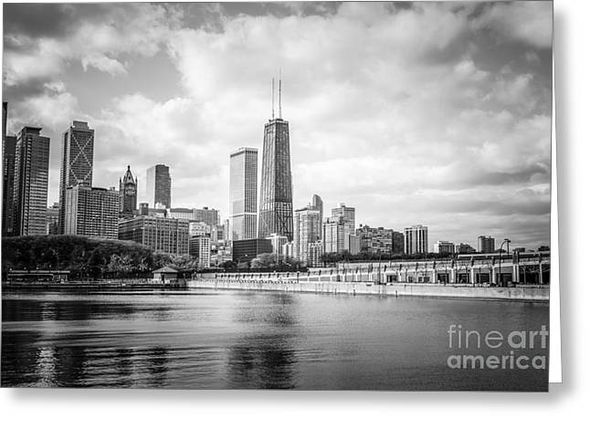 Chicago Skyline With John Hancock Building Greeting Card by Paul Velgos