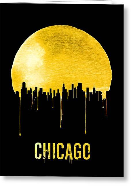 Chicago Skyline Yellow Greeting Card
