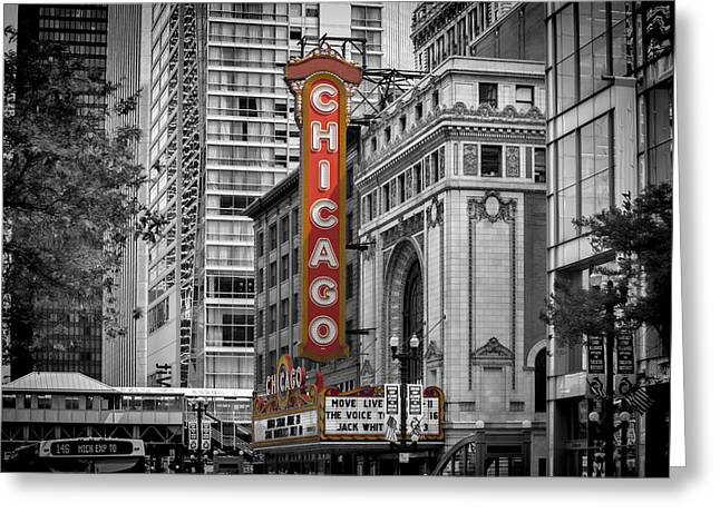 Chicago State Street Greeting Card