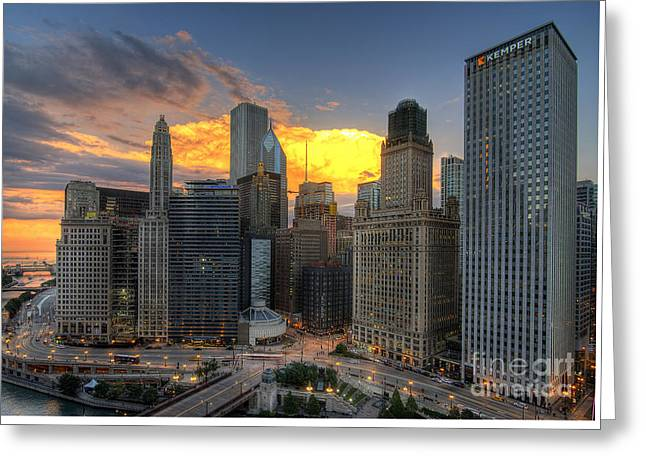Chicago Storm Greeting Card by Jeff Lewis