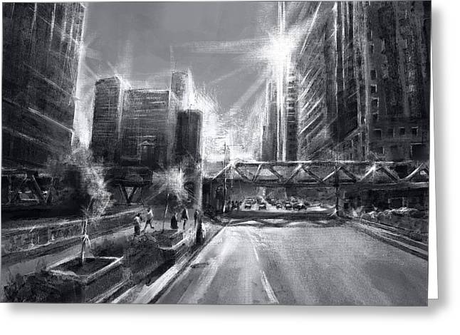 Chicago Street 4 Greeting Card