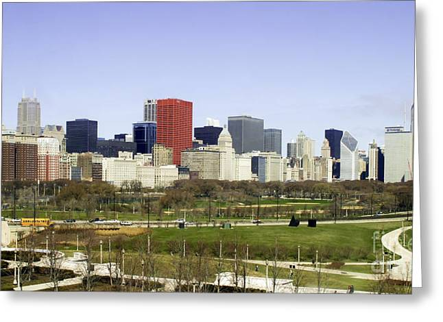 Chicago- The Windy City Greeting Card