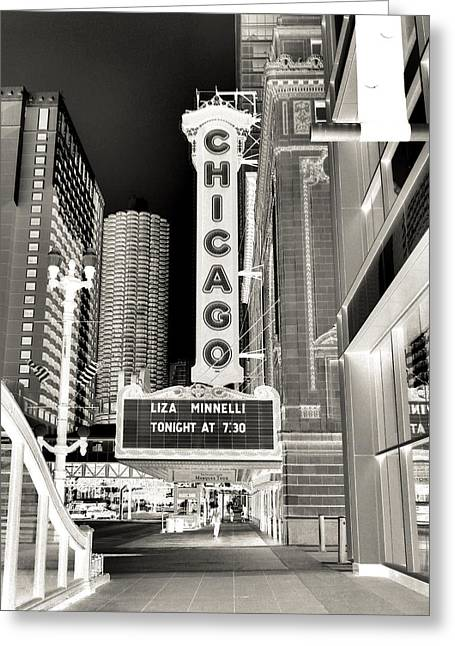 Chicago Theater - 2 Greeting Card by Ely Arsha